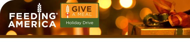 Feeding America Give A Meal Holiday Drive